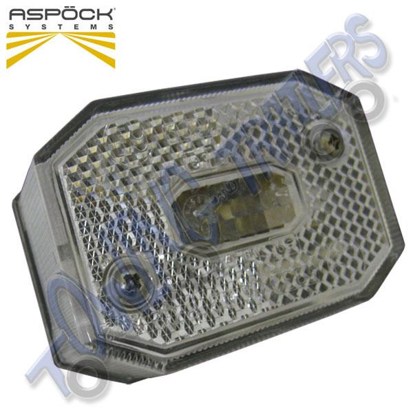 Aspock Front Marker Trailer Light Oval Shape LED