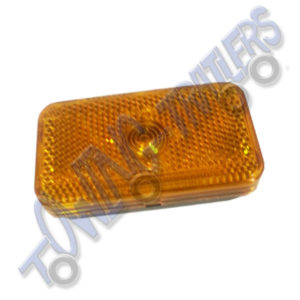 G-Mak Rectangular Amber Reflective Side Marker Light