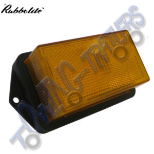 Rubbolite M332 Large Amber Marker Light with Bezel