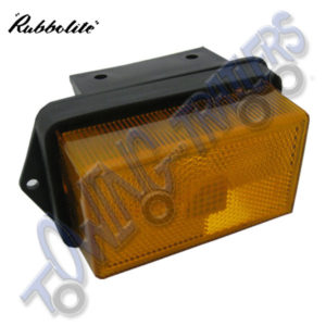 Rubbolite M335 Large Amber Side Marker Light on Horizontal Bracket