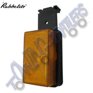 Rubbolite M333 Large Amber Side Marker Light on Vertical Bracket