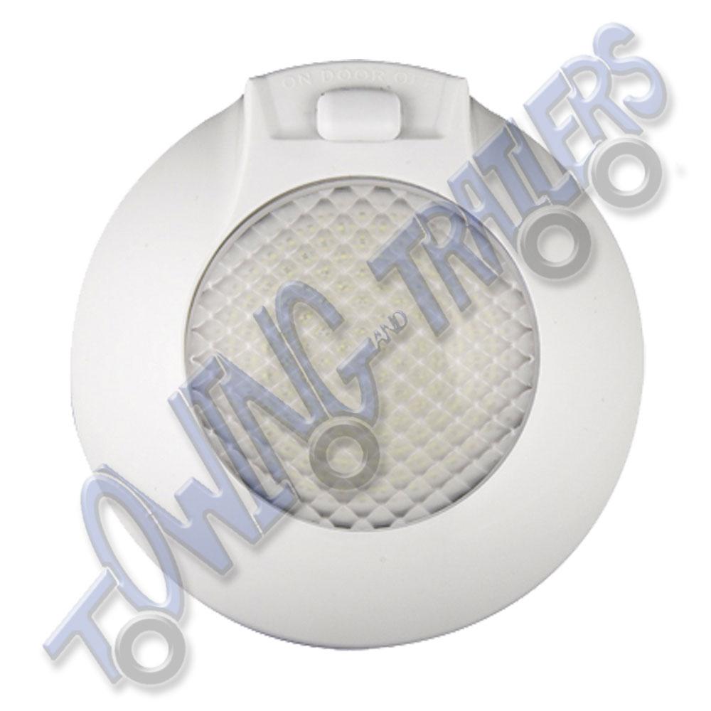 LED Autolamps 1431LW12 12v Round Interior Switched Lamp (White Bezel ...