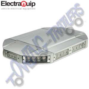 Electraquip LED Low Profile Amber Lightbar 10 Modules   EQ-MLB600