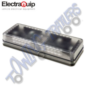 Electraquip EQ-G6MLB12 12v LED Low Profile Amber Lightbar 6 Modules 423 x 161 x 73mm