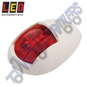 LED Autolamps 52WR Multivolt Marine Navigational Lamp Portside (White Bezel)