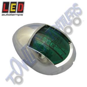 LED Autolamps 52CG Multivolt Marine Navigational Lamp Starboard (chrome bezel)