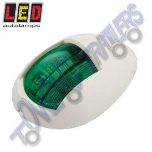 LED Autolamps 52WG Multivolt Marine Navigational Lamp Starboard (White Bezel)
