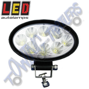 LED Autolamps Multivolt 8 x 3W LED Work Light Oval (Black) 8324BM