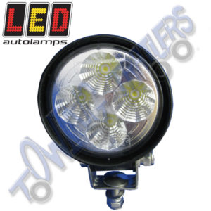 LED Autolamps Multivolt 4 x 3W Work Lamp Small Round (Black) 8312BM