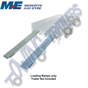 Meredith & Eyre Flatbed Trailer 8' Steel Loading Ramps / Skids + Propstands