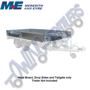 "Meredith & Eyre Headboard, Drop Sides & Tailgate for 12' x 6'6"" Flatbed Trailer"