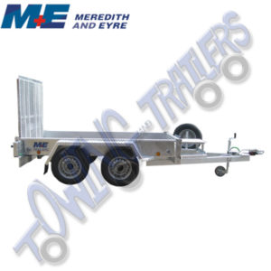 Meredith & Eyre MEP2684 Braked 2600kg 8' x 4' Twin Axle Plant Trailer with Ramp Tailgate