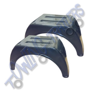 Commercial Twin Wheeled Plastic Mudguards 470 x 880mm Flat Top (pair)
