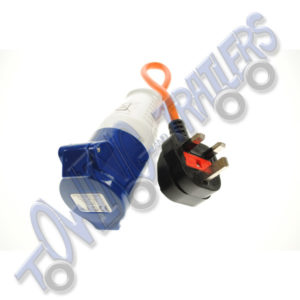 UK 3 pin Plug to 230v Hook Up Adaptor