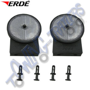 Erde White Front Round Reflectors for Erde 142-193 & PM310 & CH451 (pair) 09191085