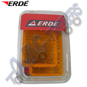 Erde Amber Side Rectangular Reflectors Self Adhesive (pair) 09191022