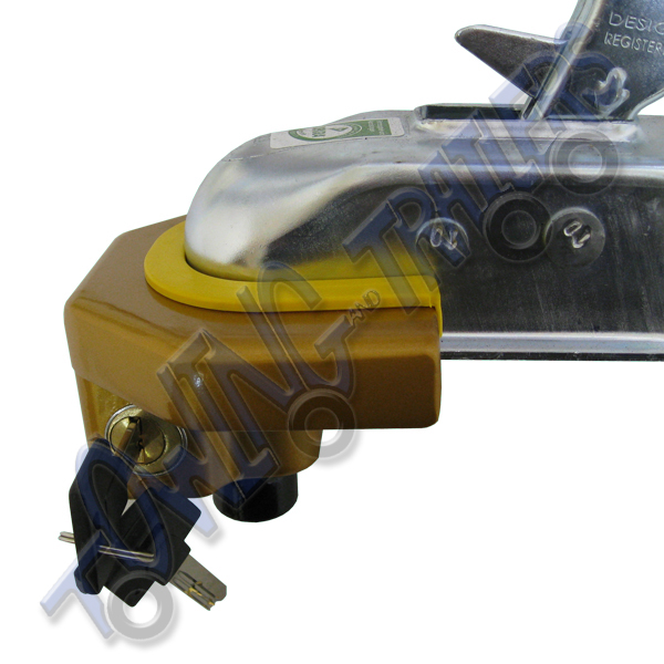 Heavy duty pressed steel trailer coupling lock