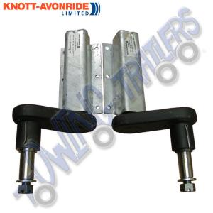 "Pair of 550kg Avonride Extended Shaft Suspension Units with 1"" Shaft for Taper Roller Bearings"