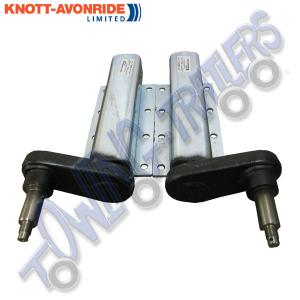 "Pair of 750kg Knott Avonride Standard Shaft Suspension Units with 1"" Shaft for Taper Roller Bearings"