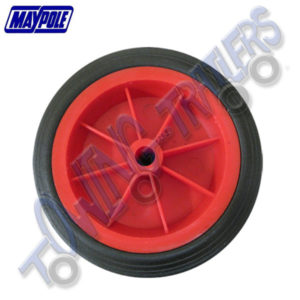 Maypole 150x45mm Red Plastic Replacement Wheel 13mm Bore