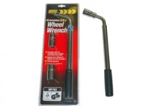 Extendable Wheel Wrench / Brace inc 17, 19, 21, 23mm Sockets