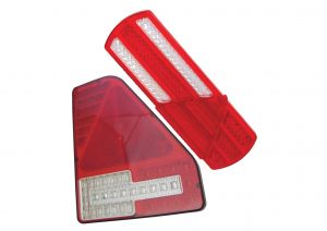 12 volt and 24 volt 6 function LED rear trailer lights