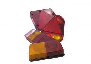 Multifunction rear bulb trailer lights