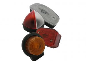 Front, side, rear and outline marker lights for trailers and caravans