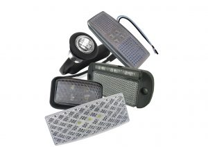LED white front marker lights for trailers and commercial vehicles in 12 volt, 24 volt and multivolt