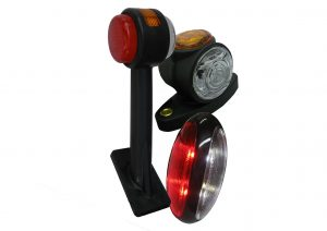 12 volt and 24 volt LED outline marker lights for trailers and commercial vehicles