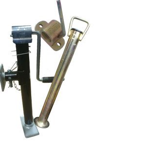 Cast and pressed steel propstands and clamps for trailers