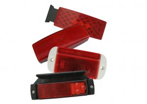 12 volt and 24 volt LED red rear marker lights for trailers and commercial vehicles