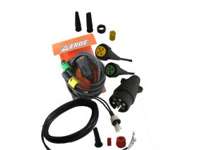 Erde, aspock and AJBA plug in wiring looms with replacement plugs and pins