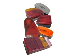 AJBA multifunction rear trailer lights and marker lights including; fog, reverse, numberplate, indicator, front, side and rear markers