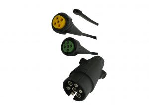 Green and yellow Aspock plug in cables available to suit the Aspock plug in lights