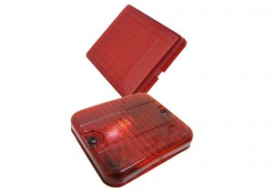 AJBA and Rubbolite red fog light lens for trailers and caravans