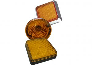 12 volt, 24 volt and multivolt LED and bulb amber indicator lights for trailers and commercial vehicles