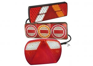Multifunction LED Autolamps rear lights for trailers to suit the harness system with varying lengths of cable