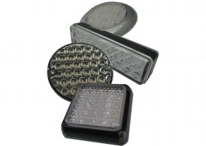LED reverse lights for trailers and commercial vehicles grommet mount and slimline lights