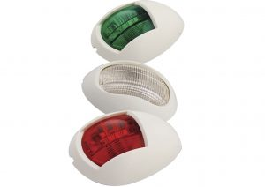Red, white and green LED marine lights available with a chrome or white bezel. Suitable for use with Boat Trailers.