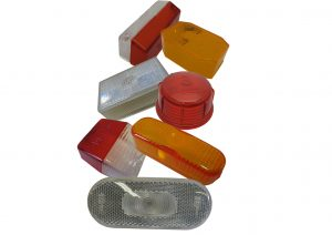 AJBA, Jokon, Rubolite, Aspock and Britax trailer light lenses for front, side, rear and outline marker lights