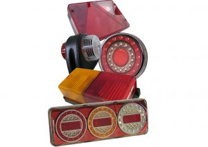 LED and bulb rear trailer lights such as; multifunction, indicator, reverse and fog