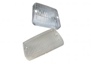 White replacement reverse lenses for trailer reverse lights including; AJBA, Wesem and G-Mak