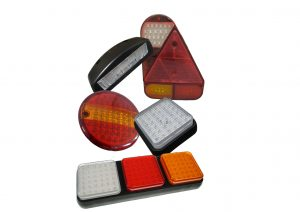 Valens LED trailer lights including; 3 function, 4 function, hamburger style, numberplate and reverse light