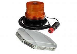 A small range of Electraquip strobe lights and light bars.