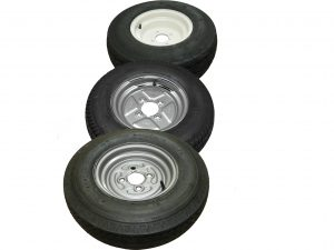 10 Inch trailer wheels and tyres on 4 stud x 5 stud wheels rims