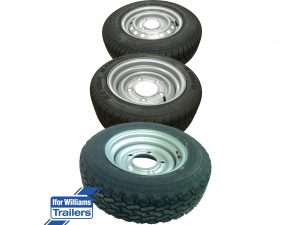 10 inch, 12 inch and 13 inch wheels and tyres for Ifor Williams trailers with 4 stud and 5 stud wheel rims