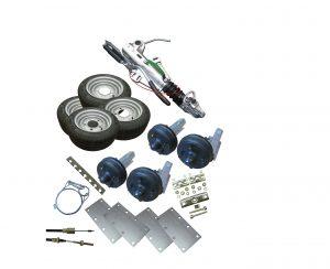 Braked running gear kits