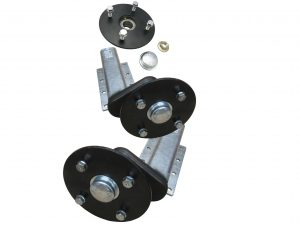 Unbraked trailer suspension units with P series and E series hubs with 4 stud x 5.5 inch PCD