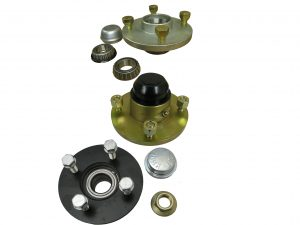 Unbraked Trailer Hubs for 1 inch shaft, erde trailers, daxara and maypole trailers.